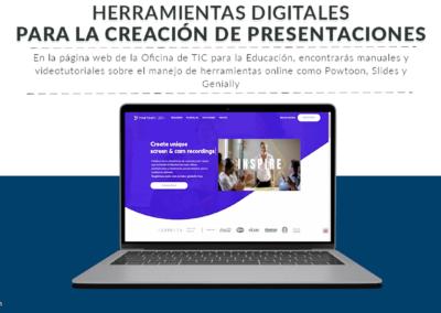 Herramientas online para la creación de presentaciones interactivas y animaciones